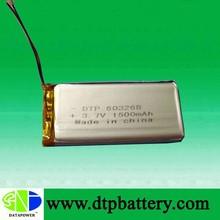 DTP 3.7V 1500mah security camera battery