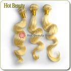 Natural loose wave 5AAAAA blonde european american hair extension russian human hair bulk