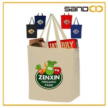 Wholesale blank canvas tote bag, cheap full color canvas tote bag blank