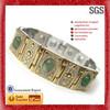 China Wholesale Onyx Bracele gold wrist watch chian and crystal pave set bracelet