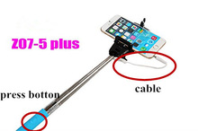 2014 original Z07-5 (Plus) Wired Remote Shutter Self Timer 3.5mm Earphone Plug Cable Take Pole Monopod + Clip for smart phone