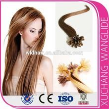 Wholesale virgin brazilian hair U tip keratin hair extensions machine