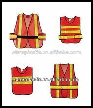 China 100% Polyster 1/2/3 Line Reflective Strip Reflective Vest,hi viz