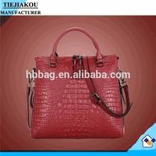 Fashion new model Alligator Pattern women 100% genuine leather handbags cow leather handbag