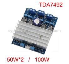 Good quality factory price TDA7492 Digital power amplifier board 50W+50W / 100W