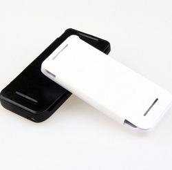 2800mAh Rechargeable External Battery Leather Case For HTC One MinI