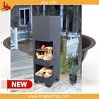 outdoor Popular steel chiminea stands/bbq chimeneas