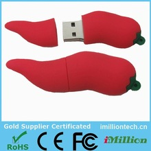 Company gift chilli usb flash drive, usb vegetable shaped