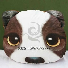 2014 hot sale polyester cotton fabric cute dag decoration inflatable car seat cushion