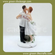 """Sweet Kiss"" Resin Figurine Wedding Cake Topper"