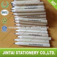 Promotional Cheap Wooden Golf Pencil, Natural Mini Wooden Pencil