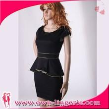 Peplum Pattern Dress Designer Wholesale Office Wear Dresses