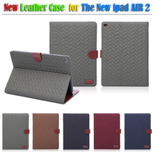 2014 New arrival for ipad 6 case , leather case for ipad air 2