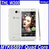 Original THL W200 5 inch Android 4.2 MTK6589T 1.5GHz Quad Core 1GB 8GB IPS Screen Wifi Bluetooth GPS 3G 8MP Camera THL W200