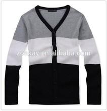 Chinese Clothing Manufacturers Korean Fashion Custom Men Cardigan Sweater