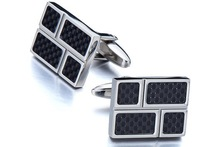 Carbon Fiber CuffLinks Anniversary Gift for Boyfriend