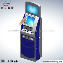 High Resolution lcd Payment Kiosk Wall with card reader