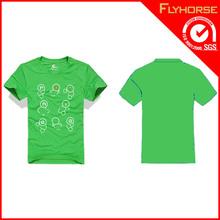 Customized Green Brand Organic Cotton T Shirt