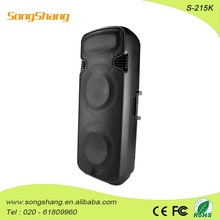 dual 15 inch super Bass Portable Speaker with SD card