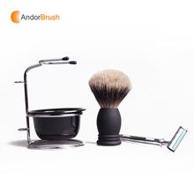 New promotion badger hair wholesale shaving brushes shaving gift set men