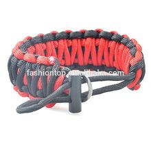 550 paracord survival gear paracord bracelet fire starter /bracelet/emergency survival kit