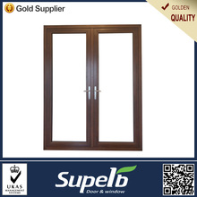 China interior used solid wood double doors