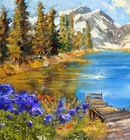 Hand-painted Modern Landscape Oil Painting By Palette Knife Scenery Art