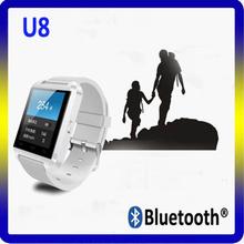 Fashionable u8 smartwatch bluetooth mobile phone hand watch touch screen