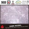 mejor venta chino retardante de fuego bordado de gasa pura tela de la cortina para la venta