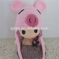 Factroy cor-de-rosa design chapéu para as meninas de porco chapéu animal