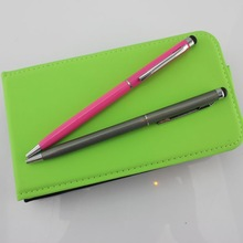 High quality colorful metal ballpoint pen with stylus for phones tablets made in China