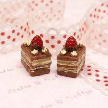 EWcmtlms resin strawberry tiramisu resin cake resin crafts