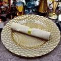 Gros vaisselle élégante événements et parti décoratif or de mariage de verre plaque de chargeur