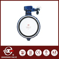 Bi-directional Vacuum Butterfly Valve WCB Carbon Steel Flange Rubber Seated