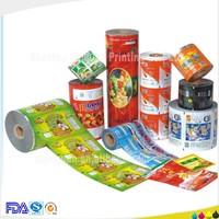 Custom printing plastic film sealants for snack