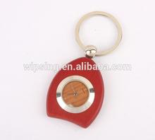 custom high quality Rosewood watch keychain metal keychain digital watch