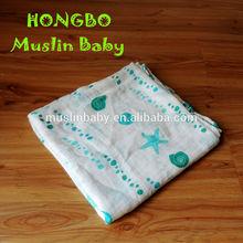 Baby Blanket Manufacturer New Design Fashion Printed 100% Cotton Baby Muslin Blanket
