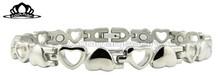 elegent heart shape stainless steel bracelet