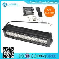 Bamboo 13.5'' 72W Led Light Bar 2 Rows Led Light Bar go kart Off road Flood/Spot/combo for Truck ATV SUV UTE Sand buggy