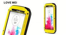 Love Mei Powerful Metal Aluminum Waterproof Case For Lg G3,Waterproof Cell Phone Case For Lg G3