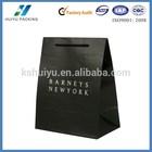 Black kraft paper bag for shopping , custom design logo print