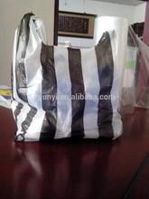 shopping plastic bags/striped plastic bags