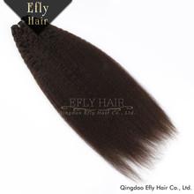 Sexy Human Virgin Remy Unprocessed Yaki Mongolian Kinky Straight Hair