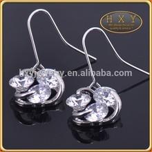 fashion accessories wholesale diamond sterling silver hoop earring