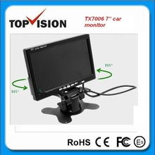12-24V vehicle monitor in dash stand alone 7inch car LCD monitor
