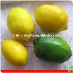 artificial fake decorative plastic lemons fruit/plastic lemon fruit for decoration/price of lemon fruit