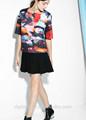 2014 nova moda atacado impresso neoprene- efeito blusa