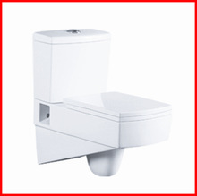 Economical sanitary ware bathroom commode ceramic wall mounted two piece toilet 8084