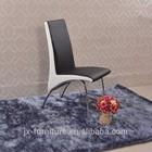 2014 popular sale chrome frame black PU dining chair