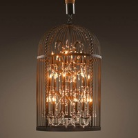 vintage iron cage pendant light black cover 5006-D6+6